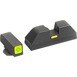 AmeriGlo CAP Sights For GLOCK 43 Green Front Black Rear