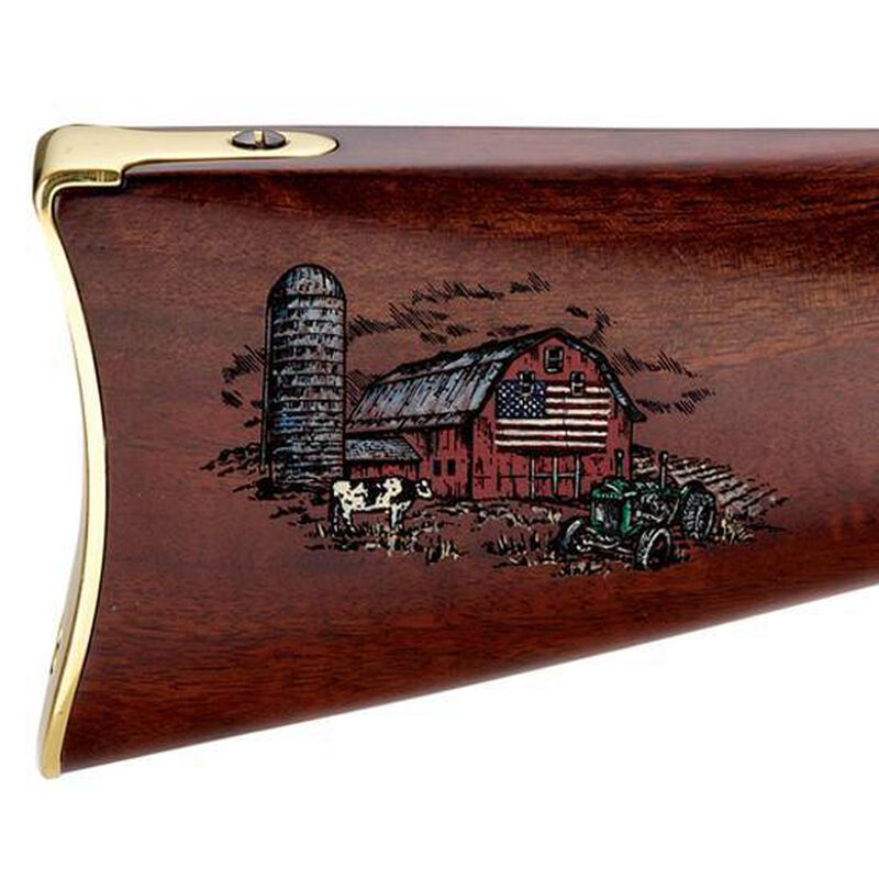 "Henry Repeating Arms Golden Boy American Farmer Tribute Edition Lever Action Rifle .22 Long Rifle 20"" Barrel 16 Rounds Walnut Stock Engraved H004AF"