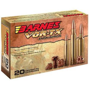 Barnes VOR-TX 45-70 Government Ammunition 20 Rounds 300 Grain TSX Flat Nose HP Lead Free 1905 fps