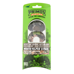 Primos Mouth Yelper Wild Turkey Three Reed Mouth Call Mossy Oak 2-Pack