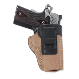 Galco Scout Clip On IWB Holster Fits GLOCK 17/22 Right Hand Leather Black