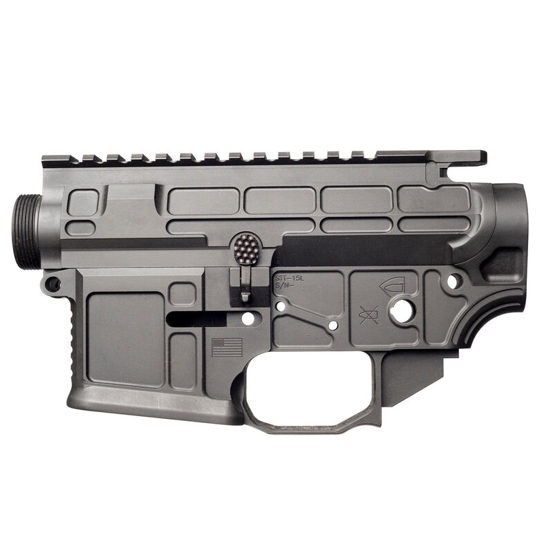 San Tan Tactical STT-15L Lite AR-15 Receiver Set 7075-T651 Billet Aluminum Anodized Finish Matte Black