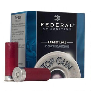 "Ammo 12 Gauge Federal Top Gun Target 2-3/4"" #8 Lead 1-1/8 Ounce 250 Round Case 1145 fps TGL128"