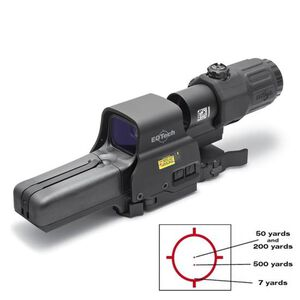 EOTech Holographic Hybrid Sight IIII (HHS III): 518.2 Holographic Weapon Sight Set and G33.STS Magnifier with Picatinny Quick Disconnect Mount HHS-I