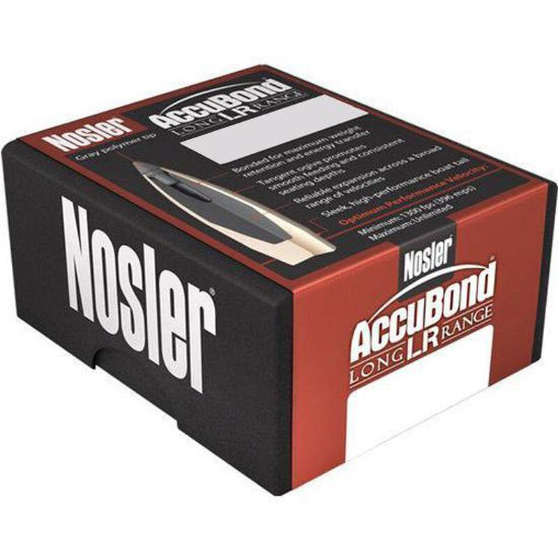"Nosler AccuBond Long Range Bullet Lead Core/Bonded Jacket 7mm Caliber .284"" Diameter 168 Grain Gray Polymer Tip Boat Tail Projectile 100 Per Box 58623"