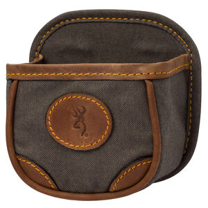 Browning Lona Canvas/Leather Shell Box Carrier 5.25x5.5x3 Flint