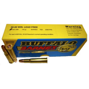 Buffalo Bore .30-30 Winchester Ammunition 20 Rounds TSX Lead Free HP 150 Grains 28B/20