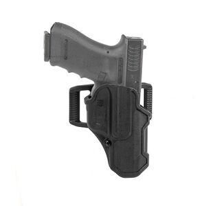 BLACKHAWK! T-Series LVL 2 Compact Belt Holster for GLOCK 19/23/26/27 Right Hand Black