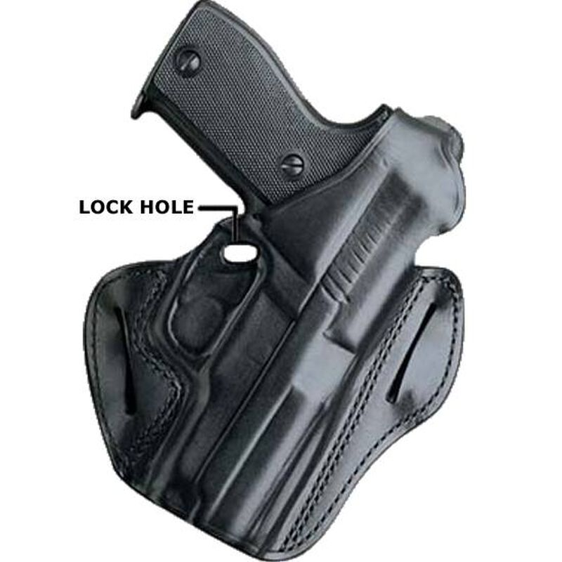 DeSantis F.A.M.S. Belt Holster With Lock Hole For GLOCK 19/23/32/36 Right Hand Leather Black 01LBAB6Z0