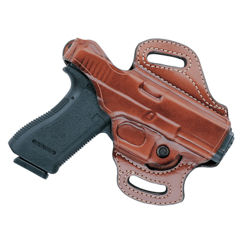 Aker Leather FlatSider XR12 1911 Officer Belt Holster Leather Right Hand Tan H168TPRU-COOFF
