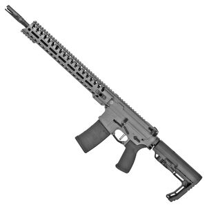 "POF USA Minuteman 5.56 NATO Semi Auto Rifle 16.5"" Barrel 30 Rounds Direct Gas Impingement System 14.5"" M-LOK Free Float Rail Collapsible Stock Tungsten Grey"