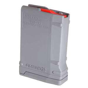 Amend2 Mod-2 AR-15 10 Round Magazine .223 Remington/5.56 NATO Anti-tilt Super Follower Stainless Steel Spring Polymer Gray