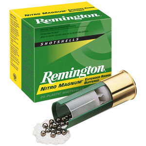 "Remington Nitro-Mag Buffered Magnum Loads 12 Gauge Ammunition 2-3/4"" Shell #2 Buffered Lead Shot 1-1/2oz 1260fps"