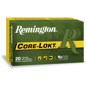 Remington Express 6.5x55 Swedish Ammunition 20 Rounds 140 Grain Core-Lokt PSP Soft Point Projectile 2550fps