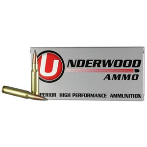 Underwood Ammo .308 Win Ammunition 20 Round Box 144 Grain Lehigh Defense Match Solid Flash Tip Projectile Lead Free 2970 fps