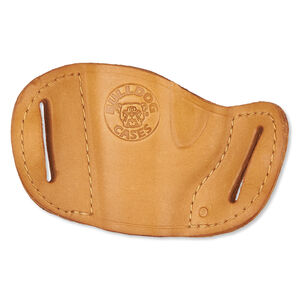 Bulldog Case Belt Slide Holster Small Semi Auto Pistol Right Hand Leather Tan MLT-S