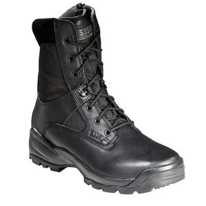 """5.11 Tactical A.T.A.C. 8"""" Side Zip Boots Leather Nylon 15 Regular Black 12001"""