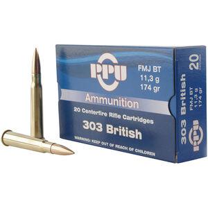 Prvi Partizan PPU Standard .303 Brit Ammunition 20 Rounds 174 Grain FMJBT 2400fps