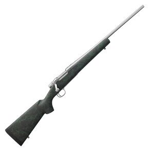 """Remington Model Seven 6.5 Creedmoor Bolt Action Rifle 20"""" Barrel 4 Rounds HS Precision Stock Black with Green Webbing Stainless Finish"""