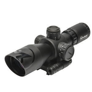 Firefield Barrage 2.5-10x40 Rifle Scope Illuminated Mil-Dot Reticle 1/2 MOA Second Focal Plane CR2032 Battery With Red Laser Integral Weaver-Style Mount Matte Black Finish