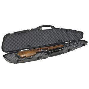 "Plano Pro-Max Single Scoped Rifle Case 52"" Length PillarLock Crush Resistant Heavy Duty Latches Molded In Handle Thick Walled Construction Polymer Matte Black 151101"