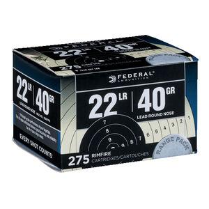 Federal Range & Field .22 Long Rifle Ammunition 275 Rounds LRN 40 Grains 729