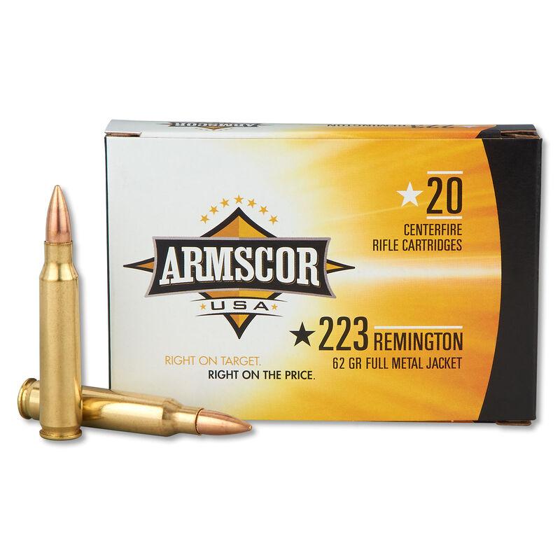 Armscor USA .223 Rem Ammunition 20 Rounds 62 Grain FMJ 3050 fps