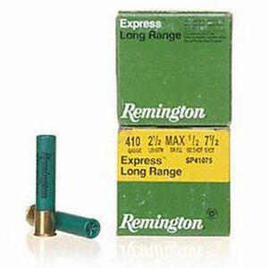 """Remington Express Long Range .410 Ammunition 25 Rounds 2.5"""" #7.5 Lead 1/2 Ounce 20747"""