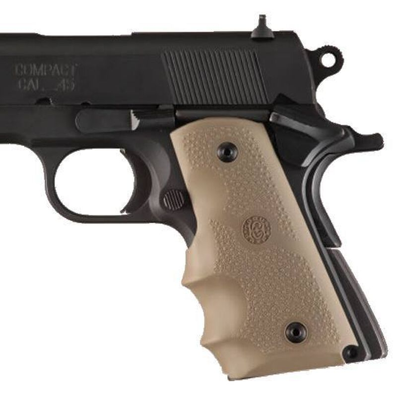 Hogue Soft Overmold Grips 1911 Officer's/Compact Rubber Tan 43003