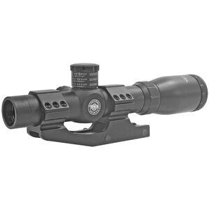 BSA Optics Tactical Weapon 1-4X24 Rifle Scope 30mmTube Mil Dot Reticle, 1/2 MOA Adjustments Black