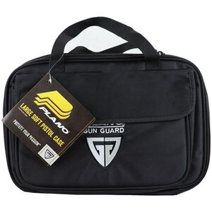 "Plano Tactical Soft Pistol Case Large 14.5""x9.5"" High Density Foam 600D Nylon Black"