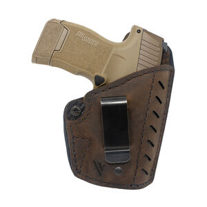 Versacarry Comfort Flex Essential IWB Holster Right Hand Size 3 Fits Most Single Stacked Semi Auto Models Kydex/Water Buffalo Leather Hybrid Brown