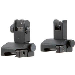 Tacfire AR-15 Pop-Up Iron Sights/Spring-Loaded Aluminum Anodized Black Finish