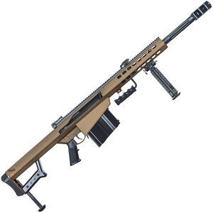 "Barrett M82A1 .50 BMG Semi-Auto Rifle 20"" Barrel 10 Rounds Steel Receiver Coyote Cerakote Finish"