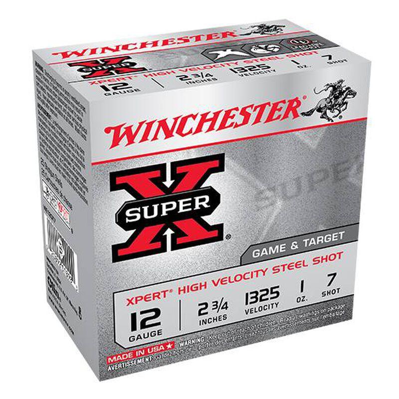 """Winchester Super X Expert 12 Gauge Shot Shells 25 Rounds 2 3/4"""" #7 Steel 1 Ounce WE12GT7"""