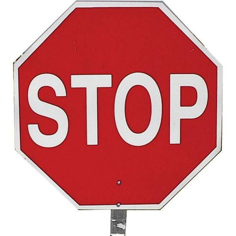 """Pro-Line Safety 14"""" STOP/STOP Paddle Sign"""