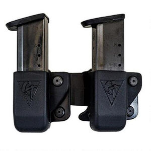 Comp-Tac Twin Magazine Pouch Belt Clip Left Side Carry Fits CZ 75 Kydex Black