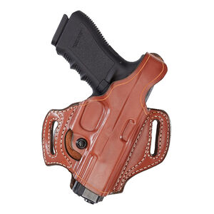 Aker Leather Model 168 FlatSider XR12 For HK USP Compact 40 Belt Holster Right Hand Leather Tan