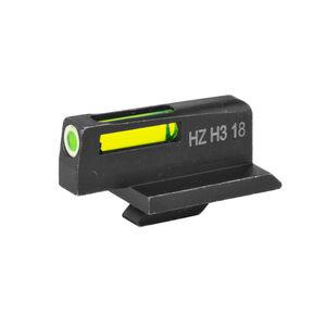 HiViz Litewave H3 Tritium/Litepipe fits Ruger GP100 Models Green Front Sight Only  White Ring/Green Steel Housing Matte Black