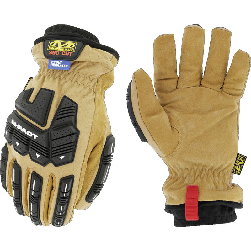 Mechanix Wear Durahide M-Pact Insulated Driver F9-360 Gloves Size Small Leather and Synthetic Black and Brown