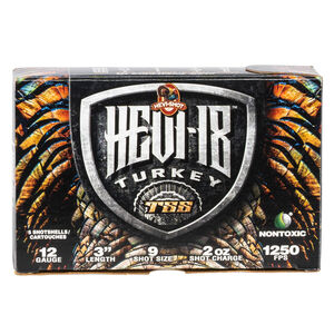 "Hevi-Shot Hevi-18 Turkey 12 Gauge Ammunition 5 Round Box 3"" #9 Tungsten Lead Free 2oz 1250 fps"