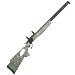 """CVA Optima V2 LR Thumbhole Muzzleloader Rifle with Scope Mount  Break Action In-Line .50 Caliber 209 Primer Ignition 28"""" Fluted Nitride Treated SS Barrel Composite Stock Realtree Xtra Green"""