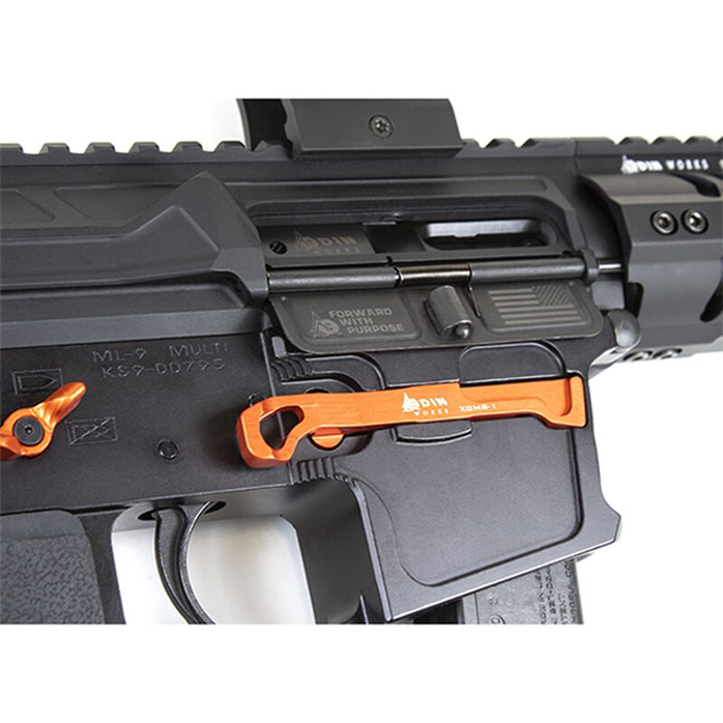 ODIN Works Extended Magazine Release for Glock New Frontier Style Orange ACC-XGMR1-OR