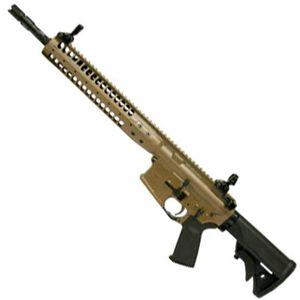 "LWRC IC Individual Carbine SPR AR-15 Semi Auto Rifle .223 Rem/5.56 NATO 16"" Spiral Fluted Barrel 30 Rounds Gas Piston SPR Hand Guard Skirmish Sights Flat Dark Earth ICR5CK16SPR"