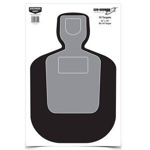 """Birchwood Casey Eze-Scorer 12"""" x 18"""" Paper Target BC-19 Indoor/Outdoor 100 Pack 37007"""