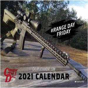 Cheaper Than Dirt! Range Day Friday 2021 Calendar