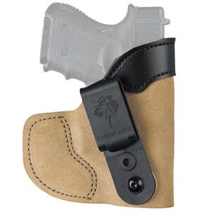 "DeSantis Pocket-Tuk Colt Detective Special/Ruger LCR SP101 2"" Barrel IWB or Pocket Holster Right Hand Suede Natural 111NAN3Z0"
