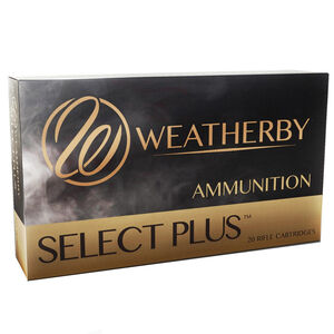Weatherby Select Plus .224 Weatherby Magnum Ammunition 20 Rounds 55 Grain Hornady Interlock Spire Point 3650fps