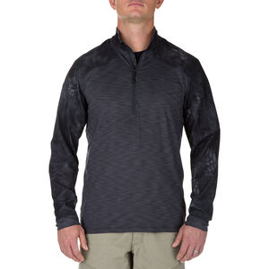 5.11 Tactical Men's Rapid Half Zip Pullover Shirt XL Charcoal/Kryptek Camo