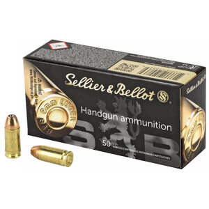 Sellier & Bellot 9mm Luger Ammunition 50 Rounds 124 Grain Jacketed Hollow Point Projectile 1201fps